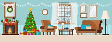 Cozy New Year Interior Wall Ch...