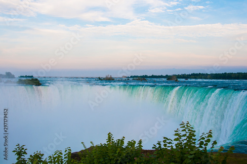 Canvas Prints Forest river Landscape of the beautiful Niagara waterfalls in Canada