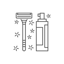Shaving Foam Machine Icon. Simple Line, Outline Vector Of Hygiene Icons For Ui And Ux, Website Or Mobile Application On White Background