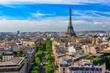 Fototapeta Fototapety z wieżą Eiffla - Skyline of Paris with Eiffel Tower in Paris, France