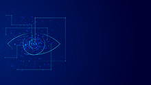 Vector Background Abstract Technology Eye Concept