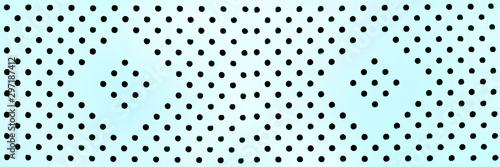 Valokuvatapetti Background or texture of blue circle perforated surface, banner format