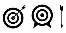 Set Of Target Icon. Vector Sym...
