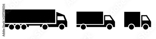 Fotomural  Vector transport logo collection on white background.