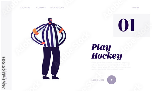 Hockey Arbiter Website Landing Page Canvas Print