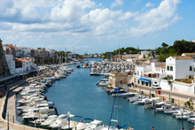 Harbour With Boats And Yachts In Ciutadella Port, Menorca, Balearic Islands, Spain, September, 2019