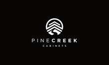 Pine Creek Logo Vectors Royalty Design Inspiration