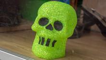 Halloween Green Skull