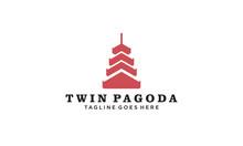 Twin Pagoda Logo Vectors Royal...