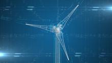 Industrial Engineering Design Of Wind Turbine Renewable Energy Industry  - 3D Illustration Rendering