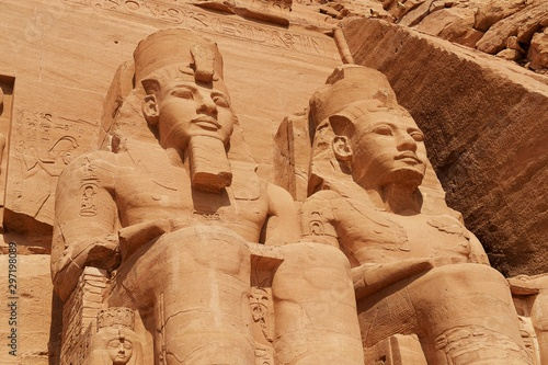 Fotografie, Obraz The Great Temple of Pharao Ramesses II in Abu Simbel, Egypt