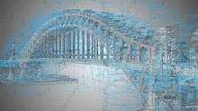 Engineering Design Architecture Disciplines Associated With Bridge Construction - 3D Illustration Rendering