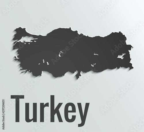 Map of Turkey Wallpaper Mural