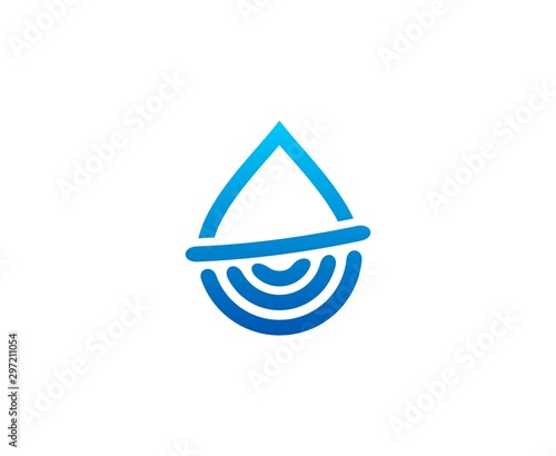 Water drop logo Tablou Canvas