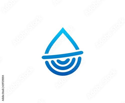 Fotografia, Obraz  Water drop logo