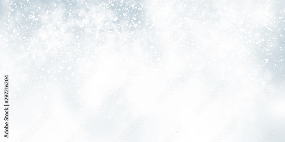 Fototapety, obrazy: white snow blur abstract background. Bokeh Christmas blurred beautiful shiny Christmas lights