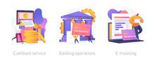 E Banking Icons Set. Return On...