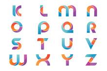 Set Of Alphabet Logo Icons Des...