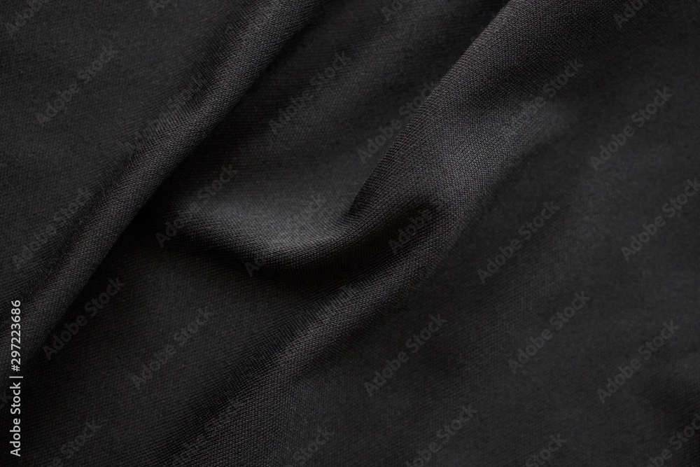 Fototapety, obrazy: Abstract black fabric cloth texture background