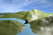 An Elephant Walking On A River...