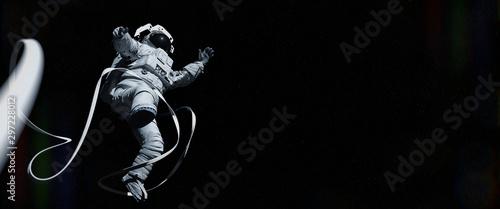 Tableau sur Toile astronaut during spacewalk