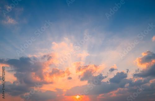 fototapeta na ścianę Perfect sunset sky background