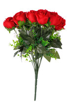 Artificial Red Rose Isolated On White Background.