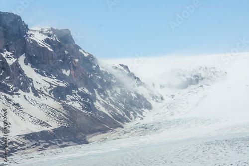 Ice formations and crevasses of Skaftafellsjökull glacier (part of Vatnajökull N Canvas Print