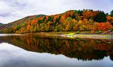 Beautiful Fall Foliage In The Mountains Of Pennsylvania