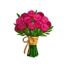 Peonies Or Roses Bouquet, Bunc...