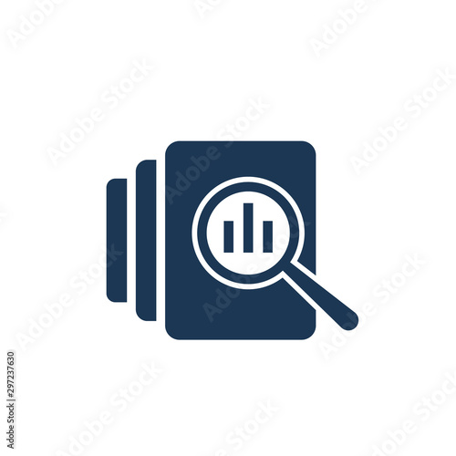 Fotografie, Obraz Audit document icon in flat style