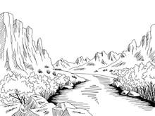 Canyon River Graphic Black Whi...