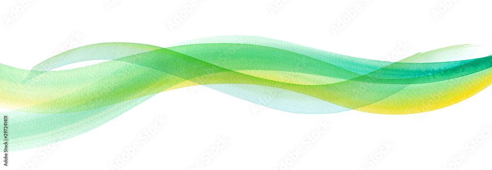 Fototapeta 透明な水、爽やかな風の抽象イメージ