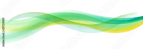 Autocollant pour porte Abstract wave 透明な水、爽やかな風の抽象イメージ