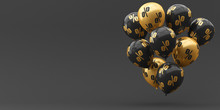 Balloons Black With Gold And P...