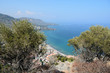 Beautiful view from the top of the Rocca di Cefalu mountain. Sicily, Italy