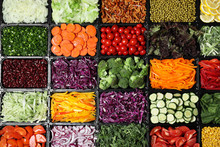 Salad Bar With Different Fresh...