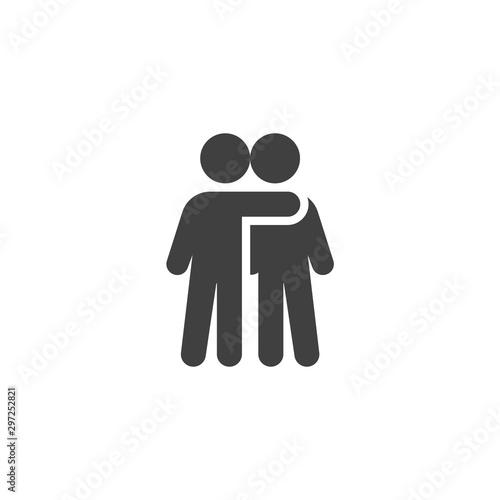 Obraz na płótnie People friendship vector icon