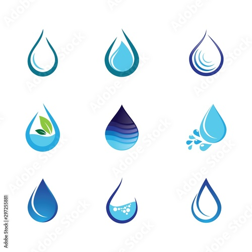 Water drop vector icon Fototapet