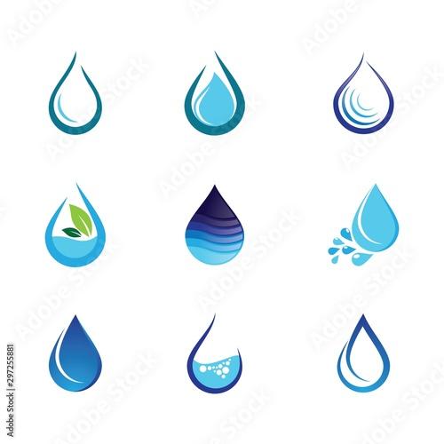 Water drop vector icon Tapéta, Fotótapéta