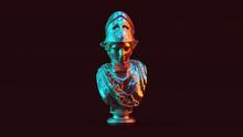 Silver Minerva Bust Sculpture ...