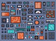 Set Of Control Panel Elements ...