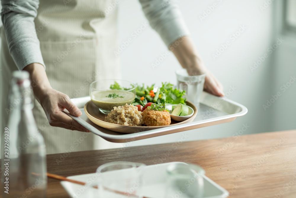 Fototapety, obrazy: オーガニック野菜料理