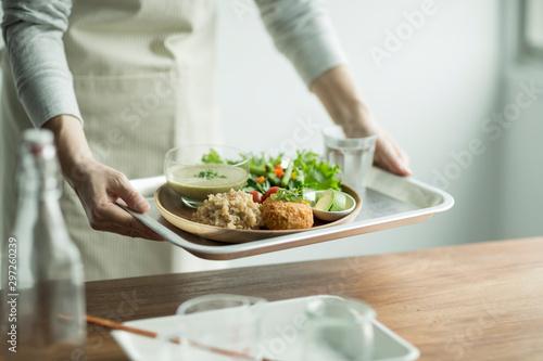 オーガニック野菜料理 Fototapet