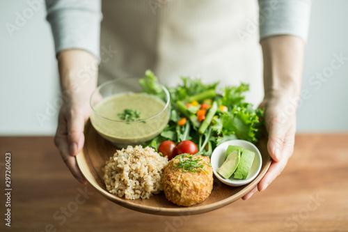 Obraz オーガニック野菜料理 - fototapety do salonu