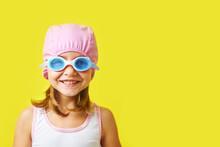 Smiling Little Girl In Swimmin...