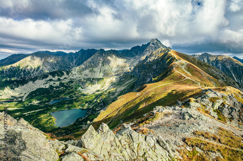 Fototapeta Mountain peaks in the autumn. Tatra Mountains in Poland. obraz