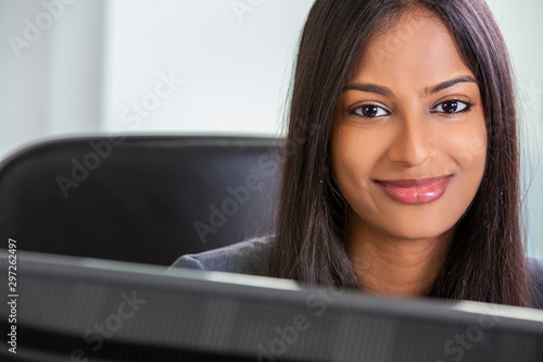 Fotomural  Asian Indian Woman or Businesswoman Smiling in Office