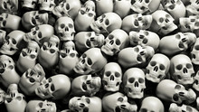 Skulls Pile Halloween Background