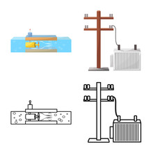 Vector Design Of Source And Environment Icon. Set Of Source And Bio Stock Vector Illustration.
